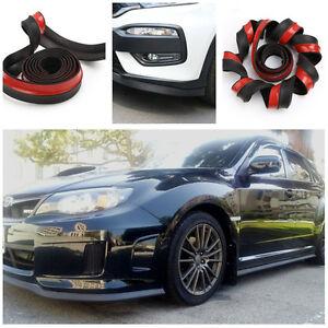 2.5M*6CM Car Front Bumper Lip Body Decal Kit Spoiler Protector Rubber Universal