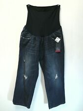 OH BABY by MOTHERHOOD Maternity Distressed Jeans Size XL Full Panel