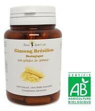 Ginseng Brésilien BIO - 100 gélules de 400 mg - Pfaffia, Relaxant, Surmenage