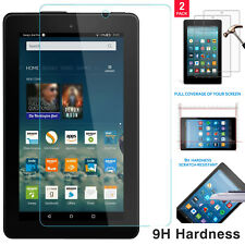 "2 Pack Genuine Tempered Glass Screen Protector For AMAZON Kindle Fire HD 8"" 2017"