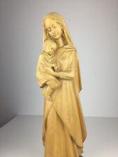 Heiligenfigur Holz geschnitzt Maria Madonna Jesus Kind Figur Schwarzwald 63,5 cm
