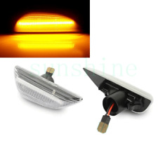 2x For Buick Encore 2013-17 LH+RH Leaf Plate Lamp White Cover Running LED Light