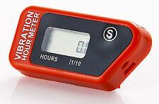 Compteur d'heure à vibration ROUGE sans fil pour moto CR CRF 110 125 250 450