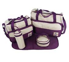 Baby Carrying Changing Bag Pack Organiser Storage set Nappy Antibacterial Purple