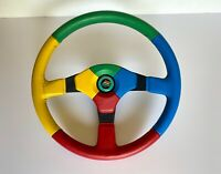 Volante MOMO Benetton F1 team steering wheel button clacson vintage