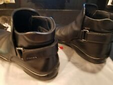 PRADA MILANO MEN'S BLACK LEATHER ANKLE BOOTS SHOES US 7 to 7.5 US