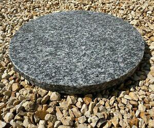 Trittstein Granit Rund Deko Steinplatte ca. 40 cm Durchmesser Granitplatte Grau