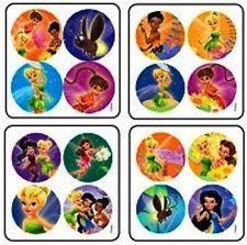 16 x Dot Stickers ~ Tinkerbell Fairies Fairy Friends Magical Flowers ~
