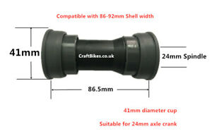 BB86 BB92mm press fit Bottom Bracket 41x24mm for SHIMANO SRAM ROTOR