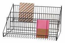 """Literature Rack 3 Tier Wire Counter Top Display 12 ¾"""" H x 23 ½ x 14 Brochures"""
