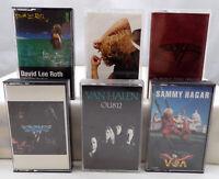Cassette Tape Lot x6 VAN HALEN SAMMY HAGAR DAVID LEE ROTH Vintage Rock