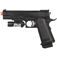 FULL SIZE M1911 SPRING AIRSOFT PISTOL HAND GUN w/ LASER SIGHT 6mm BBs BB