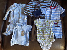 newborn boy clothes lot. 8 Pieces. carters b'gosh. Long Sleeve with Hand Mitten.