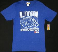 Lego Star Wars THE MILLENNIUM FALCON T-Shirt NWT Blue & Red Licensed & Official