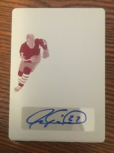 20-21 IN THE GAME USED HOCKEY SUPER PRINTING PLATE AUTO JEREMY ROENICK 1/1