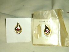 """Tack Pin , Gold Plate Lot of 2 Vintage 3 Gallon & 5 Gallon """"Blood Donation"""""""
