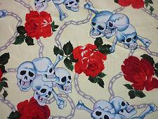 CLEARANCE Yard Crâne Rose Chaînes Tissu Crème Squelette Halloween