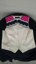 Berry Fit Used Youth L microsuede Western show vest cream/pink/purple w/crystals