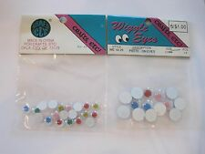Wiggle Eyes 7 MM 10 MM Colored NOS