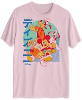 Disney Mens T-Shirt Pink Large L Graphic Tee Mickey Pluto Goofy Donald $20- #432