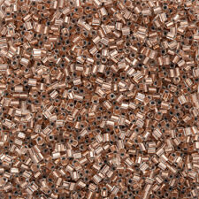 Miyuki Hex Cut Size 11/0 Seed Beads Copper Lined Crystal 12g (Q14/8)