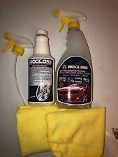Waterless Car Wash + Wax, Premium Medium Gloss Tire Interior Cleaner and Shine