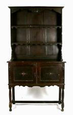 Charming Old Antique Victorian English Oak Farmhouse Welsh Kitchen Dresser