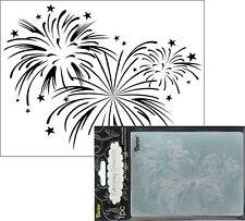 Fireworks embossing folder 1217-60 Darice embossing folders patriotic stars