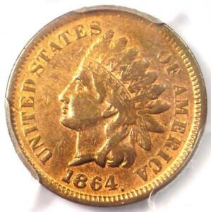 "1864 ""L on Ribbon"" Indian Cent 1C - PCGS XF Details (EF) - Rare Civil War Penny!"