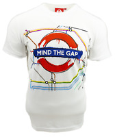 Licensed TFL103C Unisex Artistic Mind the Gap T Shirt White-New