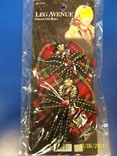 School Girl Hair Bows Clips Red Plaid Schoolgirl Sexy Adult Costume Accessory