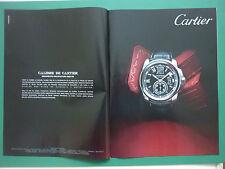 7/2010 RARE PUB CARTIER MONTRE WATCH CALIBRE ORIGINAL SPANISH ADVERT