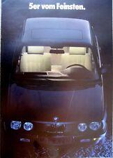 Prospekt BMW 5er E28 2/86 Edition DIN A3 Format - selten - 520i 525e 524td