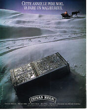 PUBLICITE ADVERTISING 054  1986  CHIVAS REGAL   12 ans d'age whisky du PERE NOEL