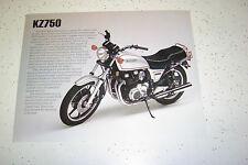 1 Kawasaki ,1981 NOS. KZ750 ,Sales Brochure.2 Pages.