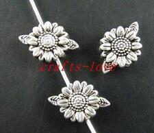 140 Tibet Silver Flower Design Flat Spacers 13x9x4mm zn14232