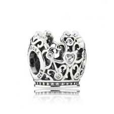 New Authentic Sterling Silver PANDORA Disney PRINCESS CROWN Charm # 791580CZ ALE