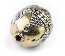 Round Afghan Tribal Brass Bead 27x20mm Afghanistan Large Hole