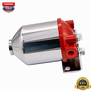 Inline Canister Large Fuel Filter Frame 3/8 NPT Inlet Outlet Racing 10 Micron