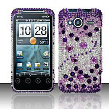 For HTC EVO Shift 4G Crystal Diamond Bling Case Phone Cover Purple Silver