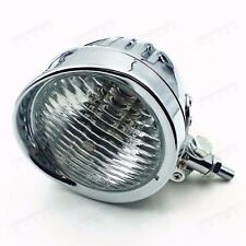 Motorcycle chrome High Low Beam Head Light Headlight Lamp For Suzuki Yamaha