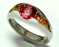 Women Fashion Jewelry 925 Silver Ruby Gem Engagement Bridal Wedding Ring Sz 6-10