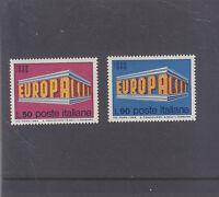 ITALY-1969-EUROPA-MUH SET-SG 1244/45-$2.50 freepost