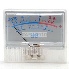 VU table header audio level meter DB power sound pressure P-55 white backlight