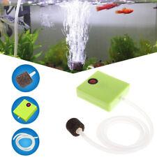 Aquarium Dry Battery Operated Fish Tank Air Pump Oxygen Aerator + Air Stone