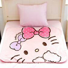 Hello Kitty Polar Fleece Blanket Bedding Throw Pink Lightweight Warm Soft Cute
