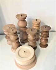 Kerzenständer Holz naturbelassen Handarbeit verschiedene Größen