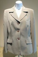 LE SUIT Women's Tan Blazer Career Jacket Size 8 Fitted & Fully Lined 3 Button