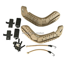 Airsoft Paintball Military Side Rail Set Guide Accessories for MICH Helmet DE