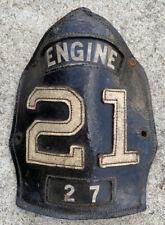 Vintage Philadelphia Long Disbanded Fire Station Engine 21 Helmet Frontis Piece